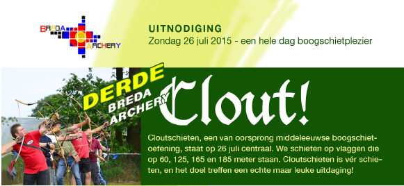 26 juli Breda Archery Clout